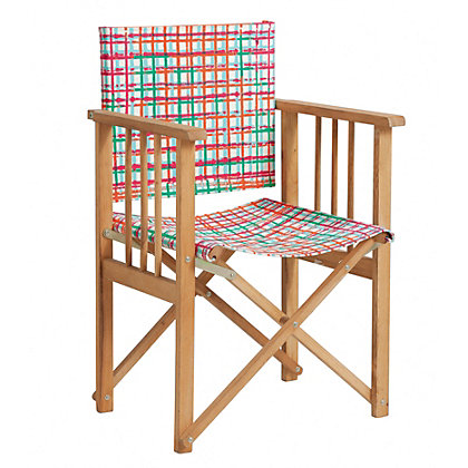 Image for Habitat Africa Patterned Directors Chair from StoreName