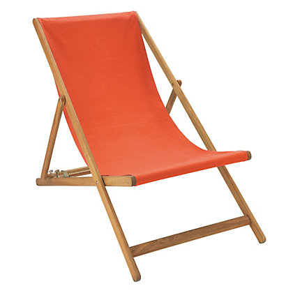 Image for Habitat Maui Deckchair - Orange from StoreName