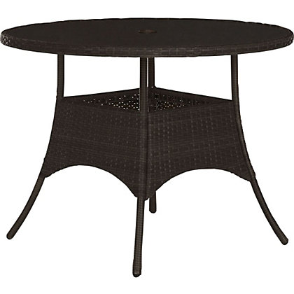 Image for Panama Round 4 Seater Rattan Effect Table from StoreName
