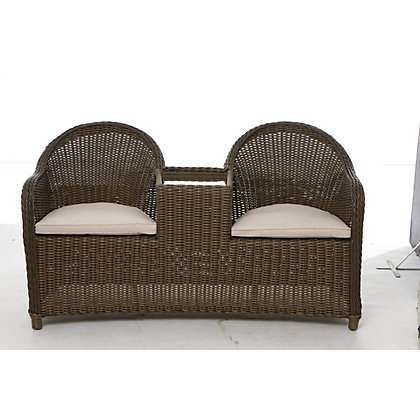 Milazzo garden furniture companion seat for Outdoor furniture homebase
