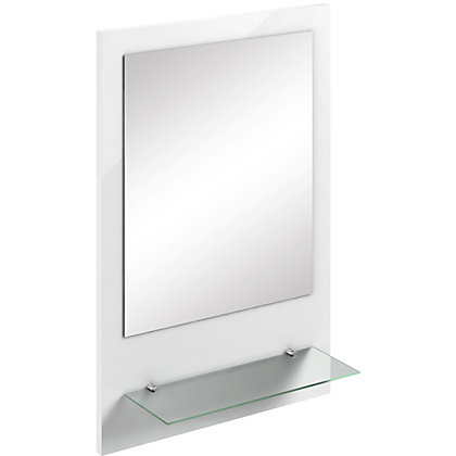 Image for Winchester Gloss White Mirror with Shelf from StoreName
