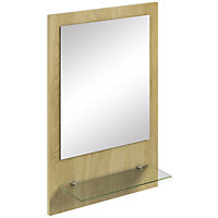 Canterbury Oak Mirror with Shelf