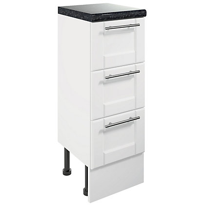 Image for Canterbury Single 3 Drawer Bathroom Unit - White from StoreName