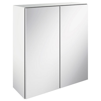 Image for Canterbury Double Mirrored Bathroom Wall Unit - White from StoreName