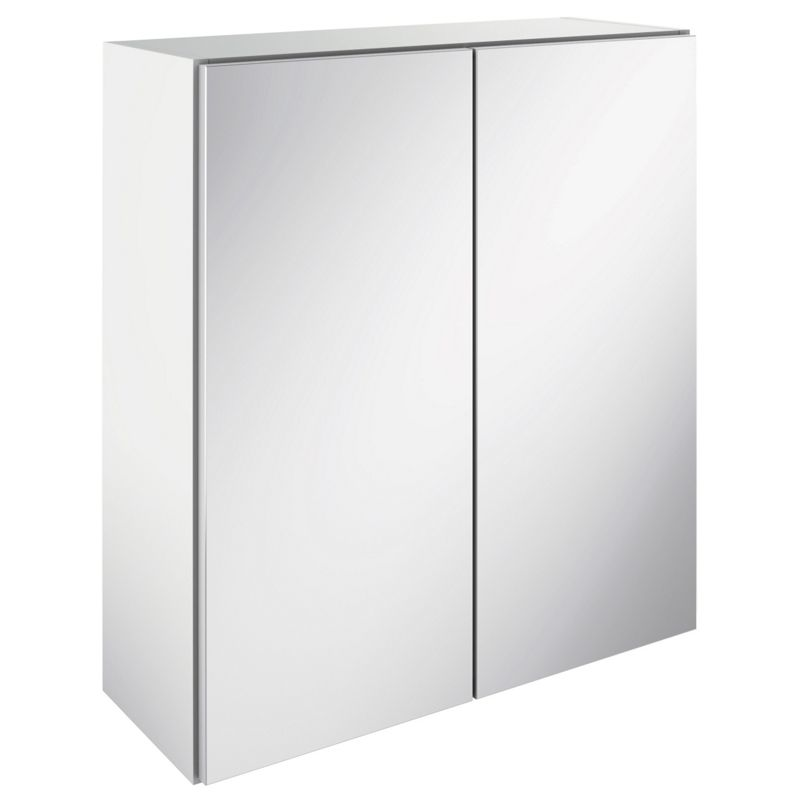 image of canterbury double mirrored bathroom wall unit white