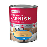 Homebase Quickdry Varnish Satin Antique Pine - 750ml