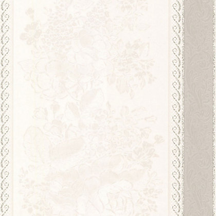 Image for Floral Silks Wallpaper - Grey from StoreName