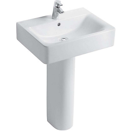 Image for Ideal Standard Senses Cube 55cm Pedestal or Furniture 1 Tap Hole Basin from StoreName