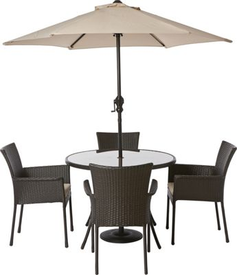 Panama 4 Seater Garden Furniture Set £299 99 at Homebase