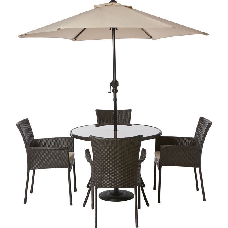 panama 4 seater garden furniture set at homebase. Black Bedroom Furniture Sets. Home Design Ideas