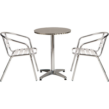 Image for Paris Flip Top Metal Bistro Set with Aluminium Chairs - Home Delivery from StoreName