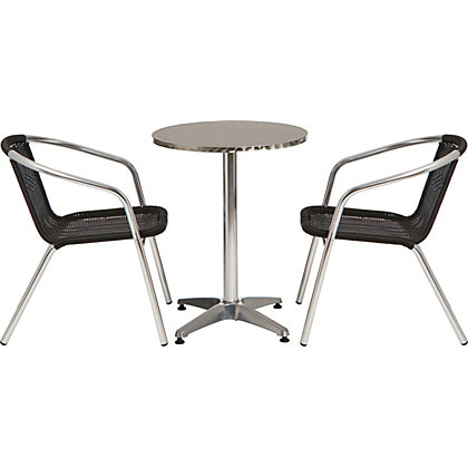 Image for Paris Flip Top Metal Bistro Set with Rattan Chairs - Home Delivery from StoreName