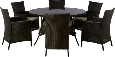 Panama 6 Seater Round Garden Furniture Set £549 99 at Homebase