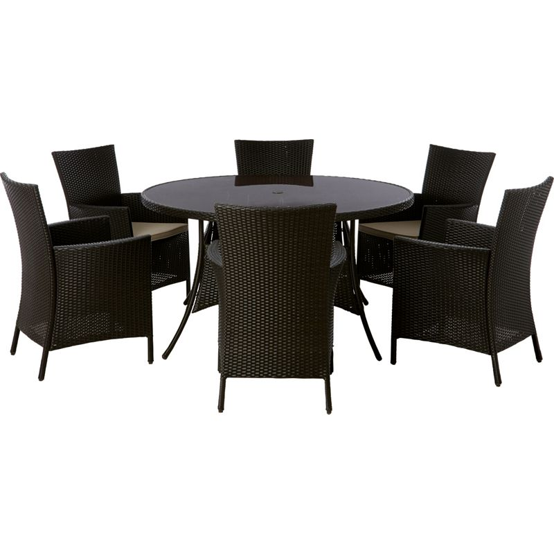 panama 6 seater round garden furniture set at. Black Bedroom Furniture Sets. Home Design Ideas