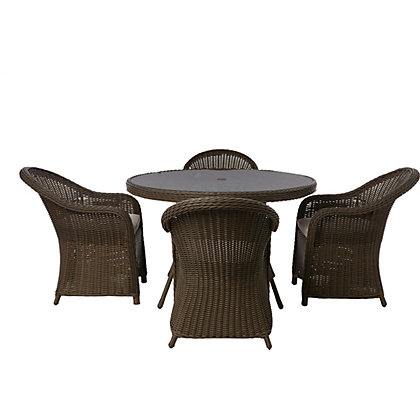 Image for Milazzo 4 Seater Rattan Effect Garden Furniture Set from StoreName