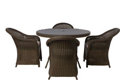 Milazzo 4 Seater Rattan Effect Garden Furniture Set £619 99 at Homebase