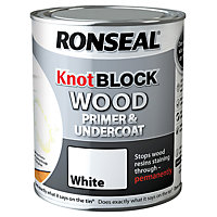 Ronseal Knot Block Primer & Undercoat White - 750ml