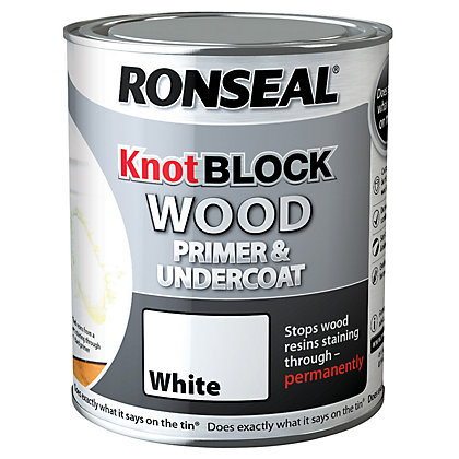 Image for Ronseal Knot Block Primer & Undercoat White - 750ml from StoreName