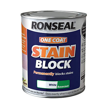 Image for Ronseal One Coat Stain Block - White - 750ml from StoreName