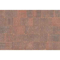 Brett Rumbled Paving Block 210x140x50mm - Brindle