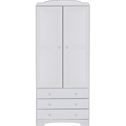 Image for Nordic 2 Door 3 Drawer Wardrobe - White from StoreName