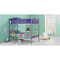 Samuel Single Silver Bunk Bed Frame