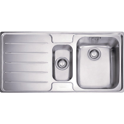 Image for Franke Laser 651 Stainless Steel Kitchen Sink - 1.5 Bowl from StoreName