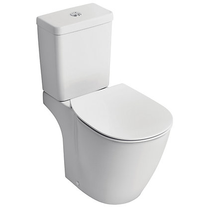 Image for Ideal Standard Senses Cube Close Coupled Toilet from StoreName