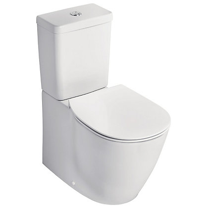 Image for Ideal Standard Senses Cube Flat to Wall Close Coupled Toilet from StoreName