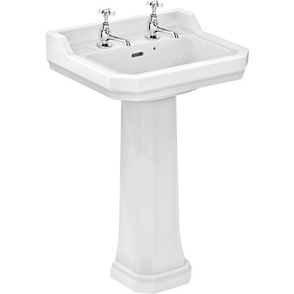 Image for Ideal Standard Waverley Basin and Full Pedestal- 56cm from StoreName