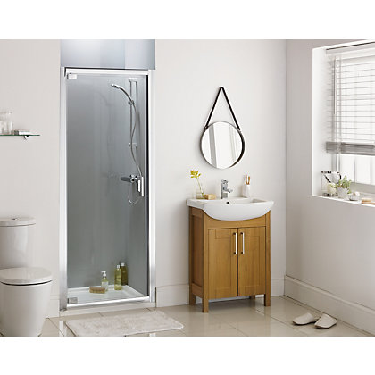 Image for Aqualux Sapphire Pivot Recess Shower Enclosure - 760 x 1900mm - Silver from StoreName