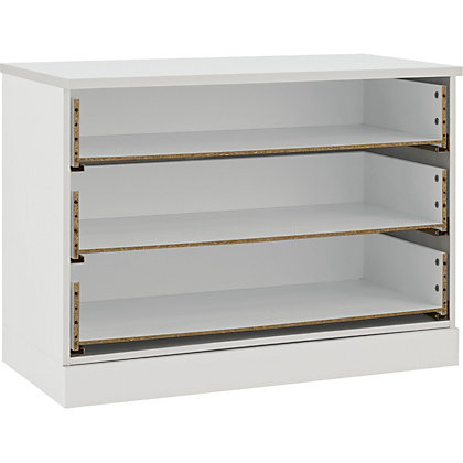 Image for Schreiber Contemporary 3 Drawer Wide Chest - White Gloss from StoreName