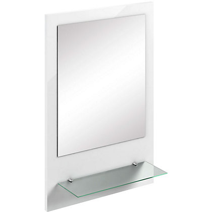 Image for Canterbury White Mirror with Shelf from StoreName