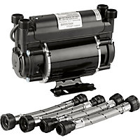 Bristan 1.5 Bar Twin End Shower Pump - Black