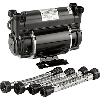 Image for Bristan 1.5 Bar Twin End Shower Pump - Black from StoreName