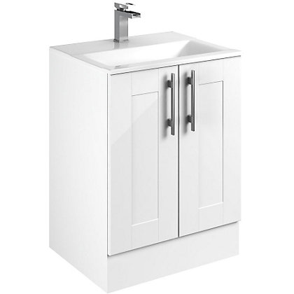 Image for Canterbury Modular Freestanding Unit & Basin - White - 600mm from StoreName