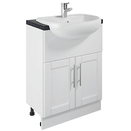 Image for Canterbury White Vanity Unit and Basin - 600mm from StoreName