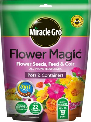 Homebase miracle gro flower magic for pots and for Miracle magic bathroom