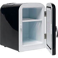 4 Litre Black Mini Travel Fridge.