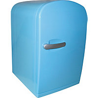 6 Litre Blue Mini Travel Fridge.