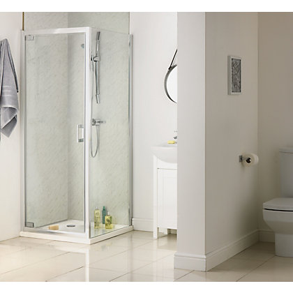 Image for Aqualux Sapphire Pivot Shower Enclosure - 800 x 800mm - Silver from StoreName