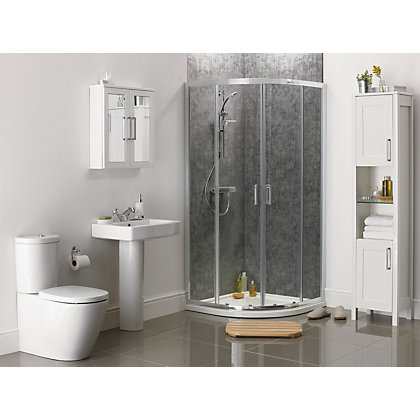 Image for Aqualux Sapphire Quadrant Shower Enclosure - 900 x 900mm - Silver from StoreName