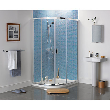 Image for Sapphire Offset Quadrant Shower Enclosure - 1200 x 800mm - Silver from StoreName