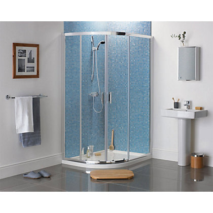 Image for Aqualux Sapphire Offset Quadrant Shower Enclosure - 1200 x 900mm - Silver from StoreName