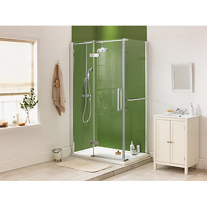 Image for Diamond Pivot & Fixed Point Frameless Shower Enclosure - 1200mm x 800mm from StoreName