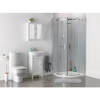 Image for Diamond Roller Quadrant Shower Enclosure - 900 x 900mm from StoreName