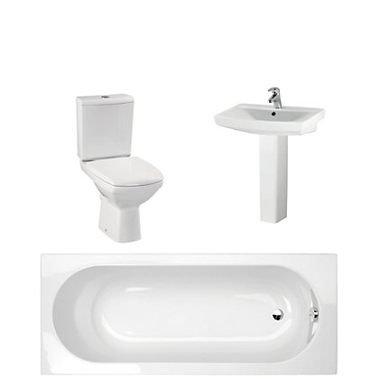 Image for Navassa White Bathroom Suite Great Value Pack from StoreName
