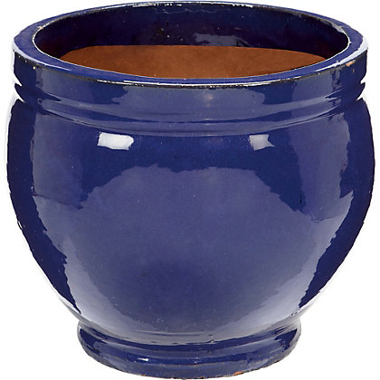 Image for Malay Blue Glazed Plant Pot - 36cm from StoreName