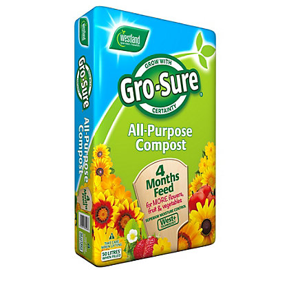 Image for Gro-Sure All Purpose Compost with 4 Months Feed - 50L from StoreName