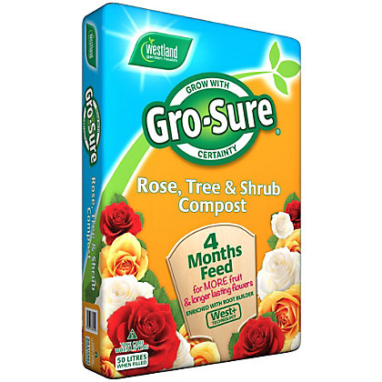 Image for Gro-Sure Rose, Tree and Shrub Compost - 50L from StoreName